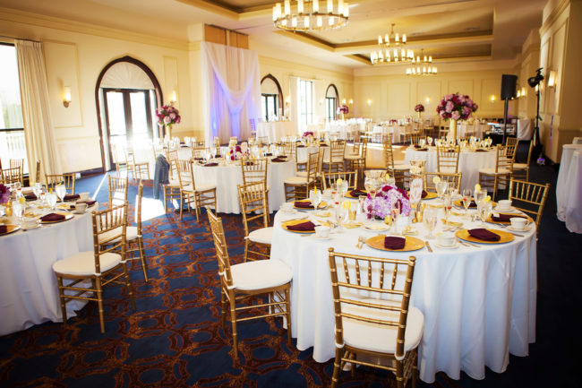gold hotel wedding