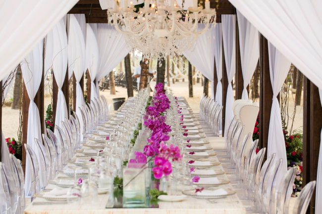 tropical Catholic wedding