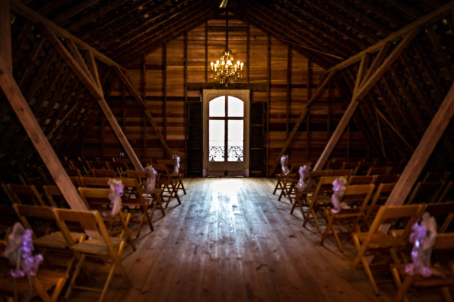 romantic Virginia barn wedding