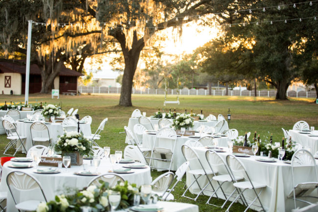 wine-inspired outdoor wedding