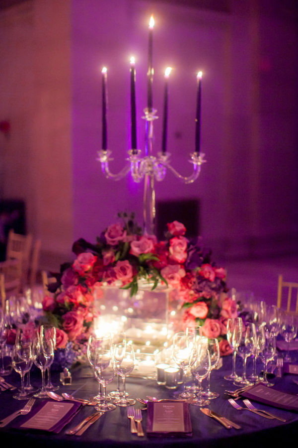 purple New York wedding