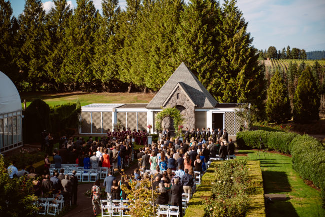 Oregon country club wedding