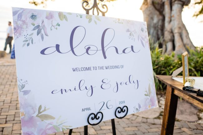 romantic oceanfront wedding