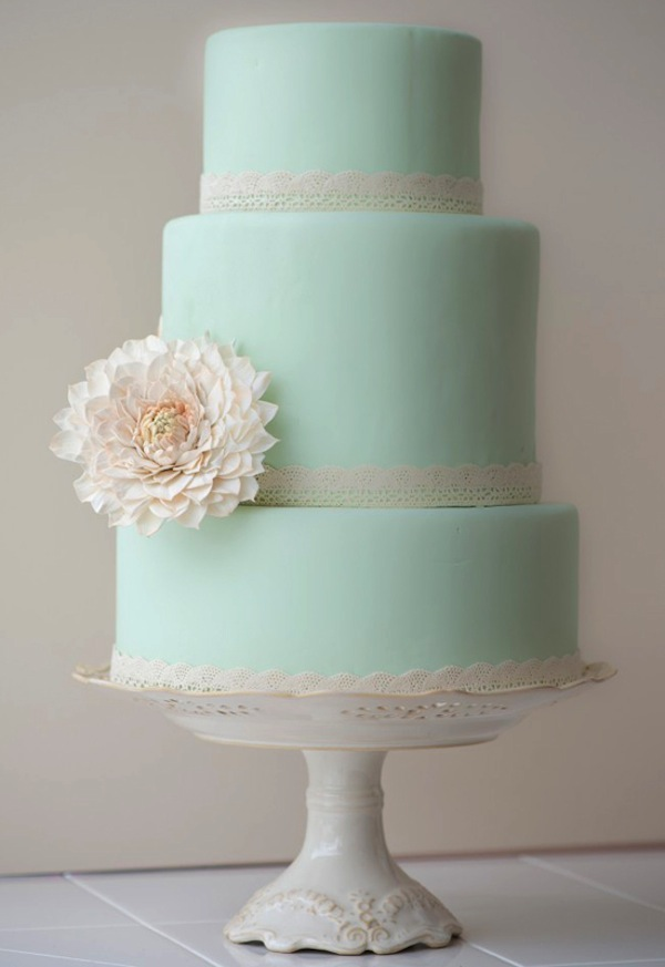 MintGreenWeddingCake