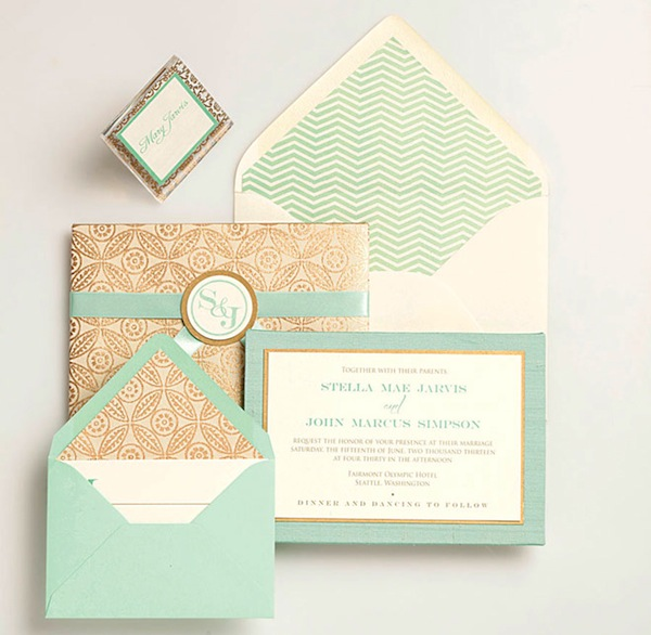 MintGreenWeddingInvitation