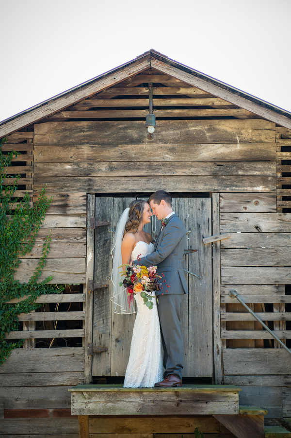 colorful rustic outdoor wedding