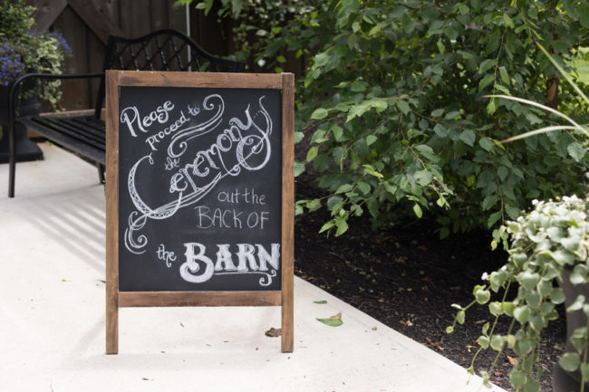 summer barn wedding