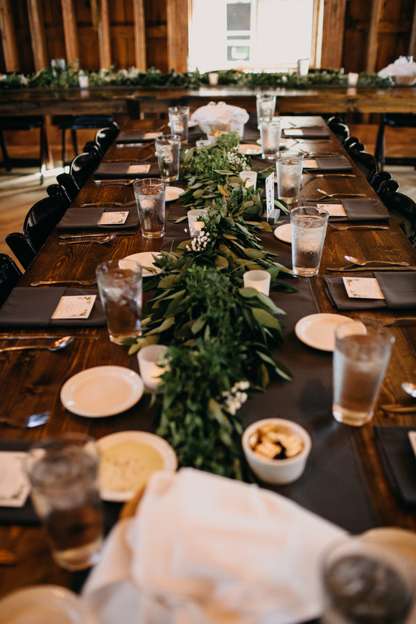 green barn wedding