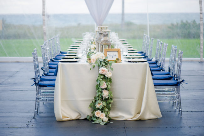 navy Florida wedding
