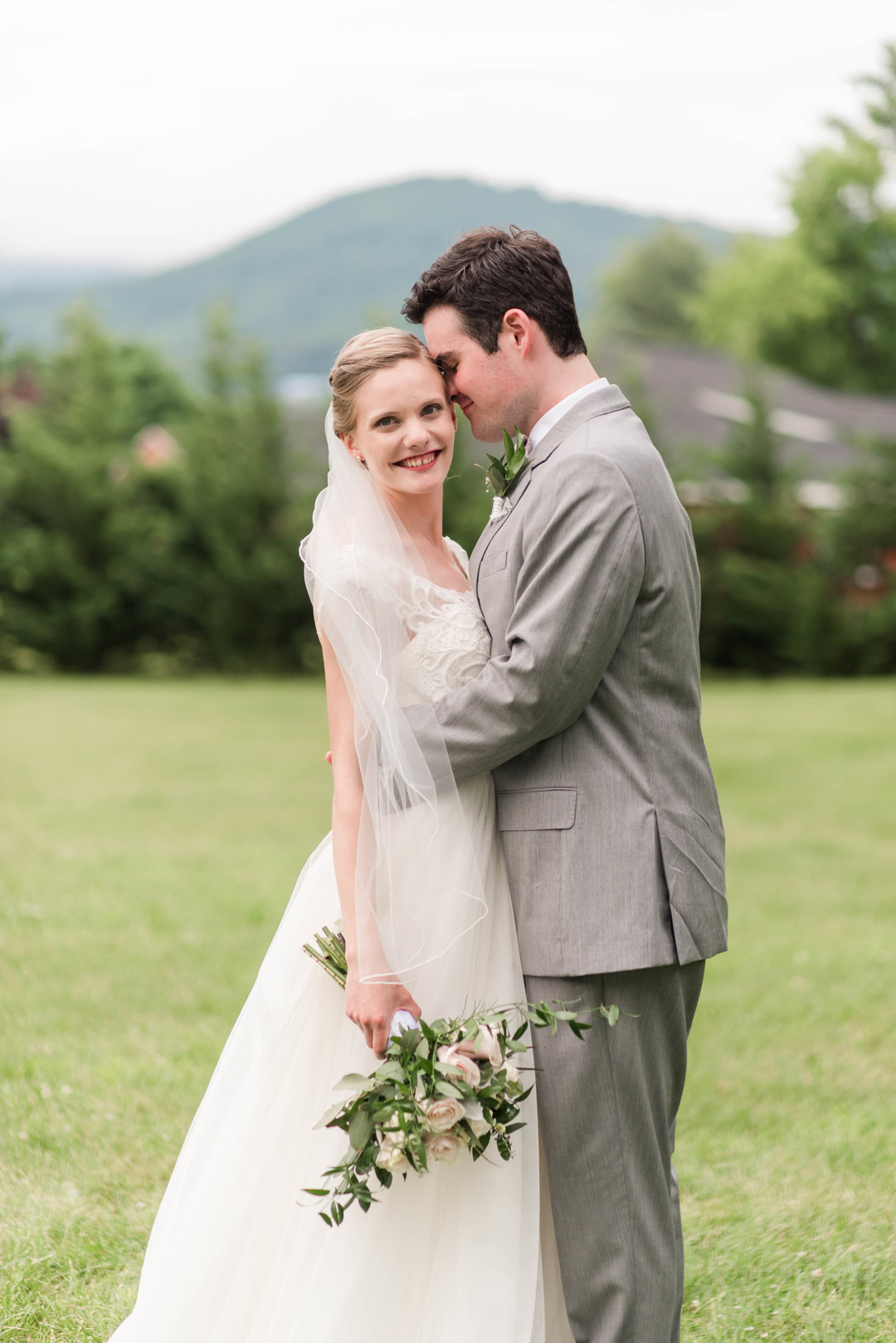 blush mountain wedding
