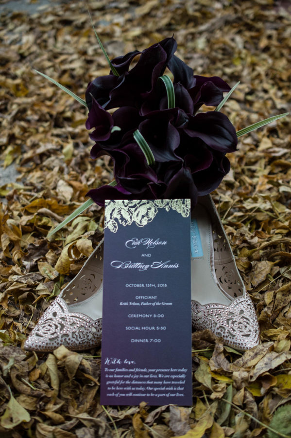 moody fall wedding