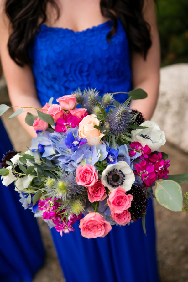 jewel-toned summer wedding
