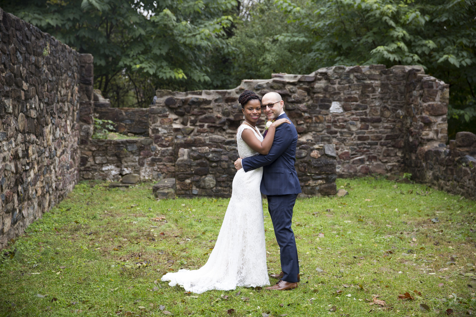 colorful October wedding