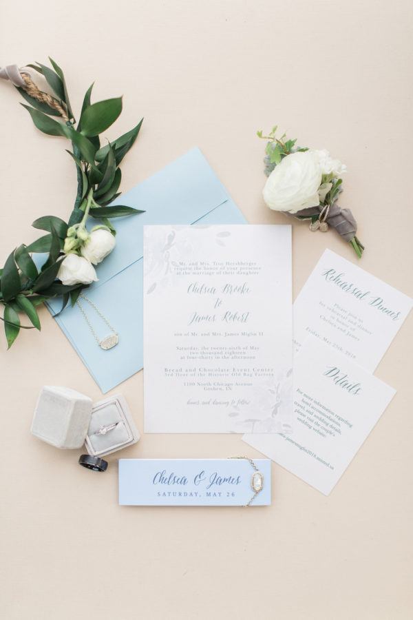 modern blue wedding