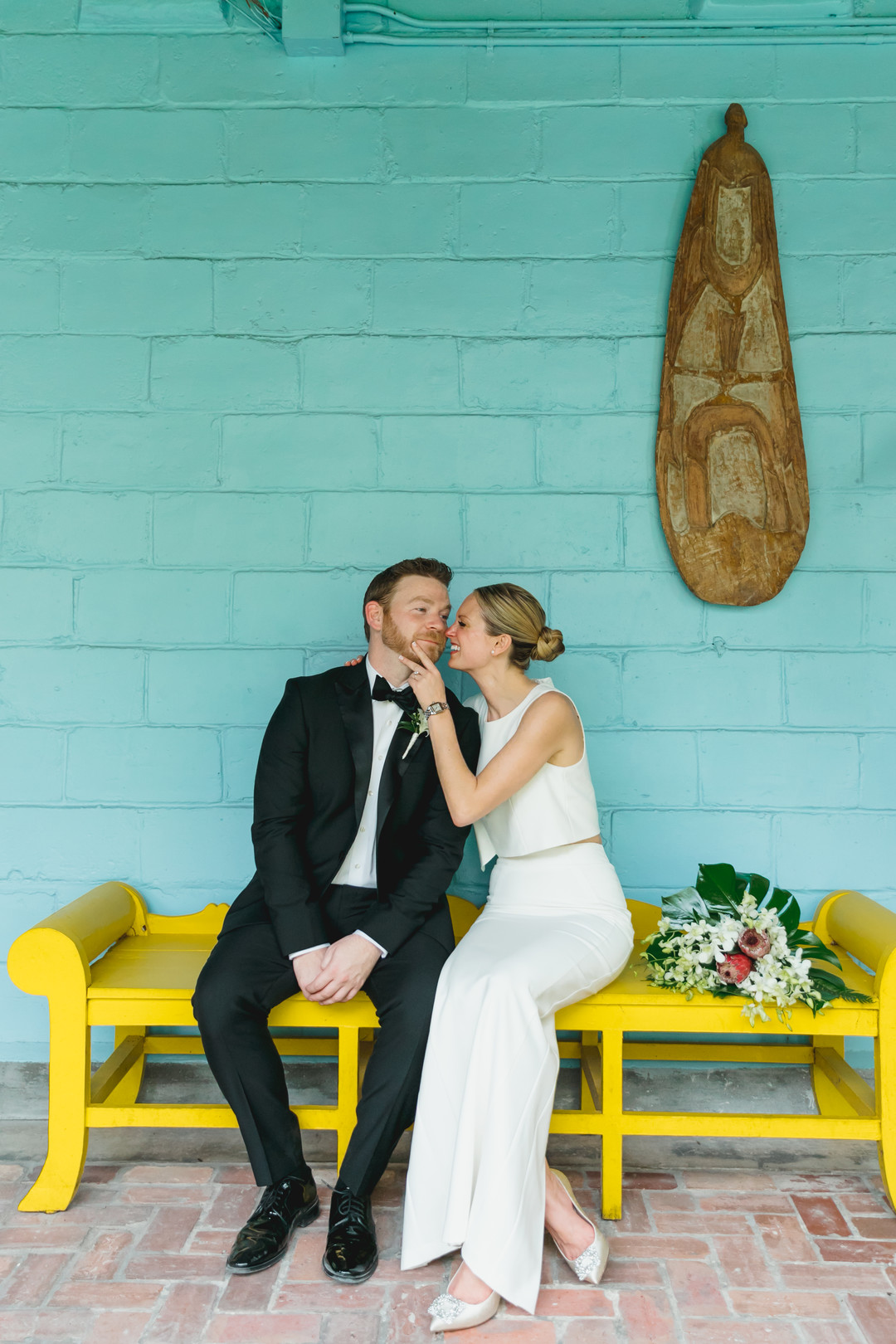tropical outdoor wedding