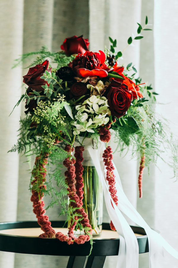 elegant red wedding