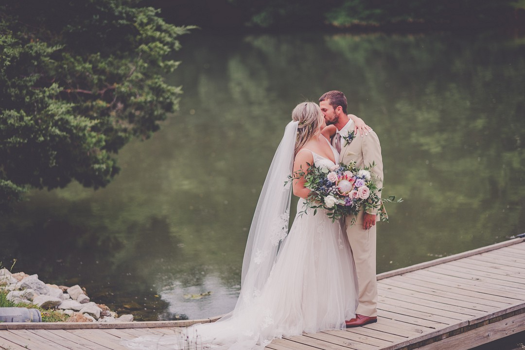 boho lake wedding