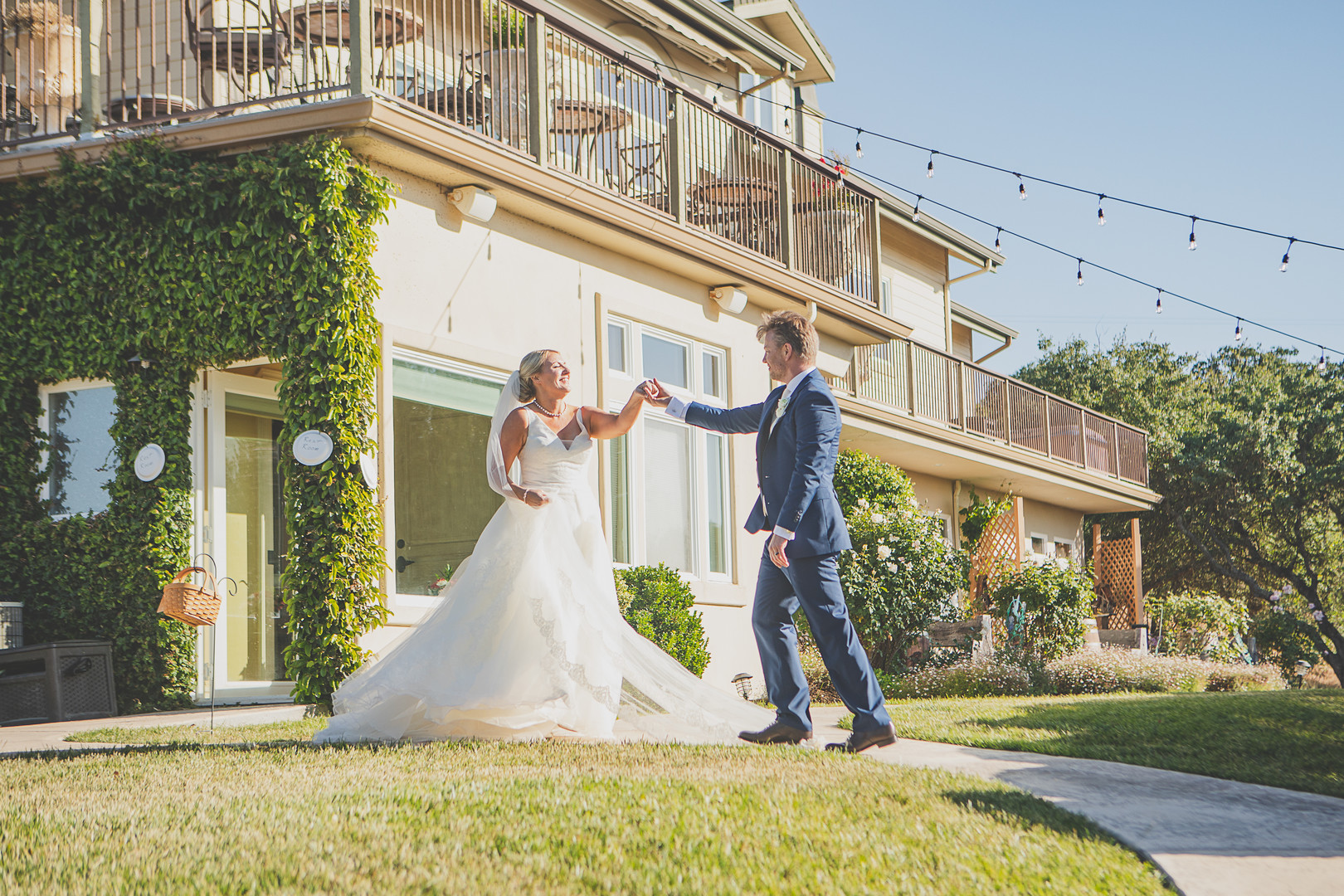 California estate wedding